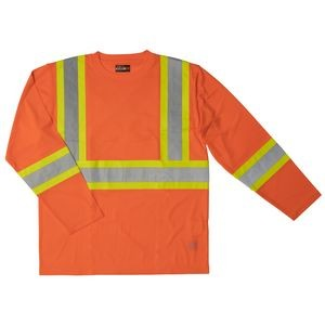 Work King® Long Sleeve Safety T-Shirt w/Armband