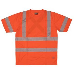 Work King® Short Sleeve Safety T-Shirt w/Segmented Stripes